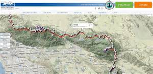 pct interactive map is updated for 2014 pacific crest