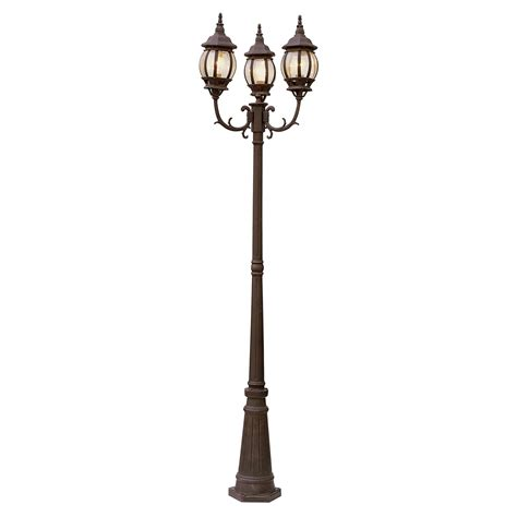 3 Light Pole L Bel Air Bayville Outdoor L Post 91 5h In Outdoor