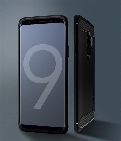 Spigen Galaxy S9 Plus Rugged Armor Matte Black Original husa samsung galaxy s9 plus spigen rugged armor matte black