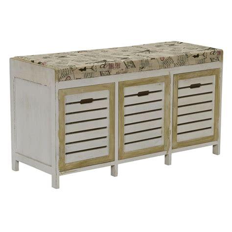 whitewash bench household essentials whitewash entryway storage bench ml