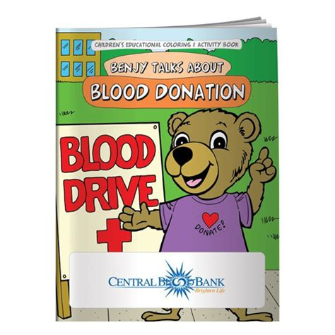 Donate Mba Books by Coloring Book Blood Donation
