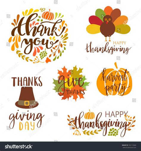 wann ist thanksgiving day vector collection autumn elements typography lettering