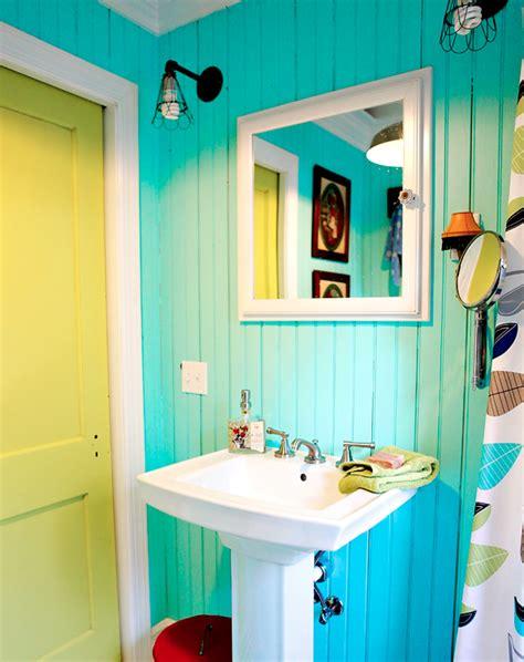 Colorful Bathroom by Colourful Industrial Bathroom Makeover Bright Bazaar By