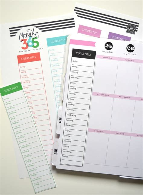 currently free printables for the happy planner me