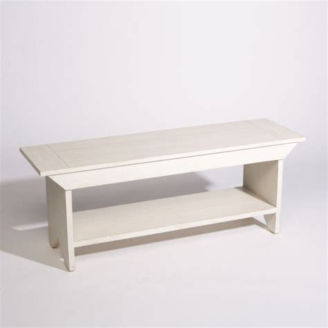 Antique White Bench Traditional Indoor Benches By Ethan Allen
