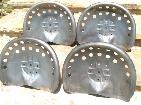 metal tractor seats four steel tractor metal farm machinery stool seats or