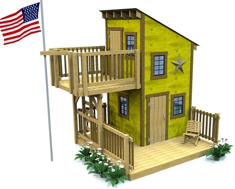 playhouse shed plans deluxe loft clubhouse plan playhouses porch and