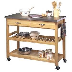 Kitchen Island Cart Stainless Steel Top Kitchen Cart With Stainless Steel Top Finish 6464515 Hsn