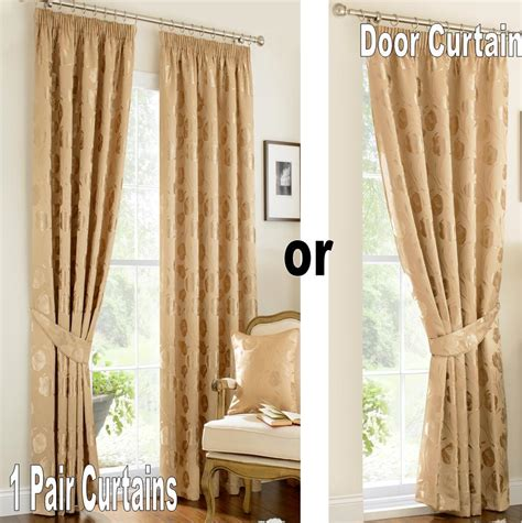 ivory and gold curtains vintage linby pencil pleat lined curtains green gold