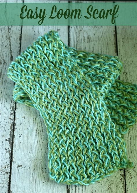 easy loom knitted scarf easy loom scarf diy