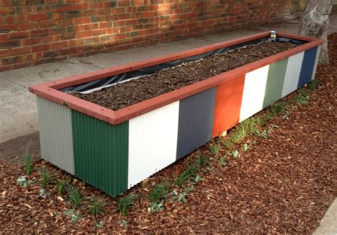 Colorbond Planter Boxes wooden planter boxes for gardens and patios