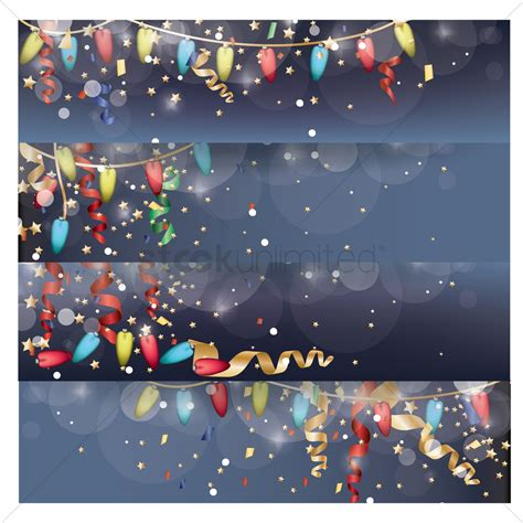 a collection of christmas lights banner vector image