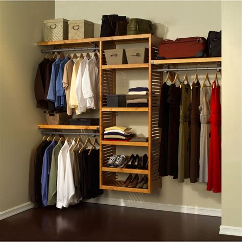 Johns Closet by Louis Home 16 Quot Deluxe Closet System Honey Maple