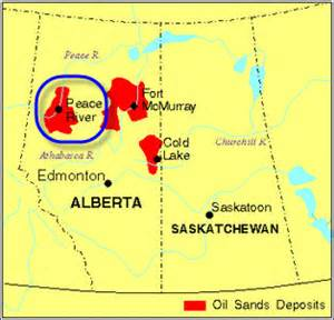 peace river canada map shell makes decision for canada carmon creek project