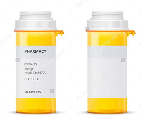 6 pill bottle label templates design templates free