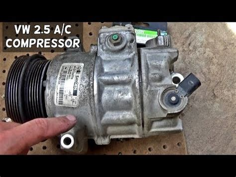automobile air conditioning service 1987 volkswagen jetta spare parts catalogs vw golf jetta beetle 2 5 ac compressor a c removal replacement youtube