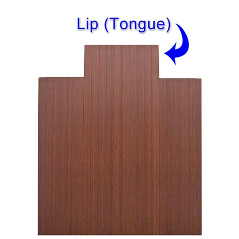 Rubber Floor Mat With Lip by 3 16 Quot Thick Bamboo Chair Mats Are Bamboo Desk Chair Mats