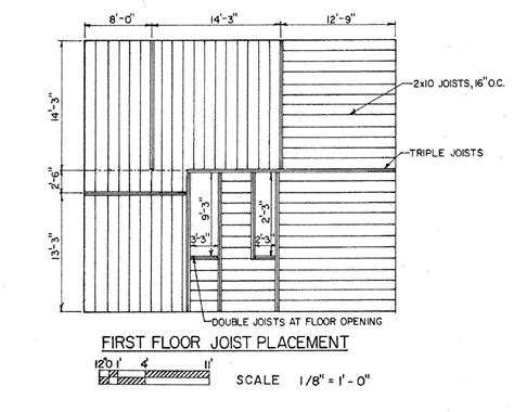Craftsman House Plans With Basement by Floor Joist Plan Floor Joist Layout Saltbox House Plan
