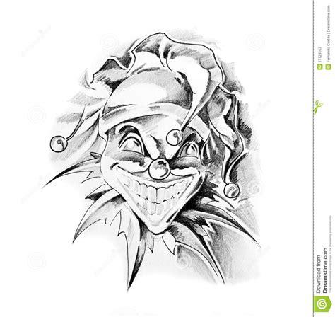 Sketch Of Tattoo Art Joker | art tattoo recherche google clown pinterest tattoo