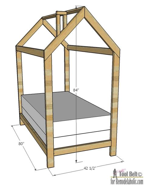 build a house free remodelaholic house frame bed building plan