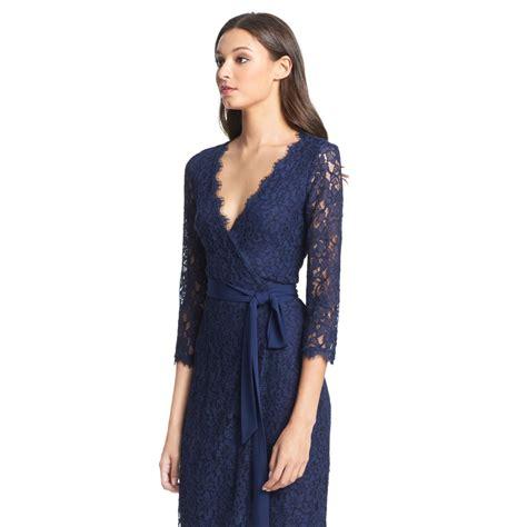 Outlet Alert Diane Furstenberg Graphic Patterned Dress by Diane Furstenberg Dvf Julianna Lace Wrap Dress In Blue