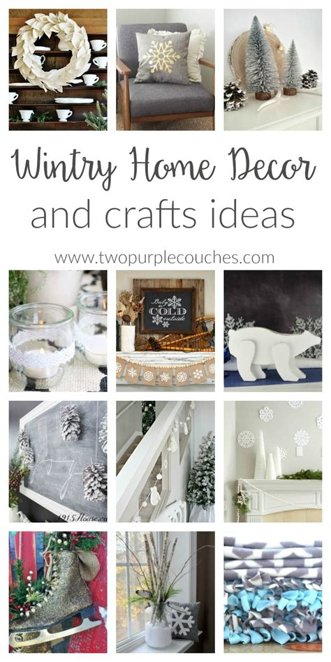 Christmas Home Decor Crafts by Wintry Home Decor Ideas Two Purple Couches