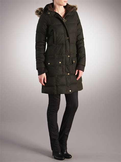 Barbour Olive Quilted Jacket by Barbour Barbour Peninsula Quilted Jacket Olive In Green Lyst