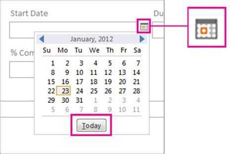 create a new desktop database from the time card template insert today s date access