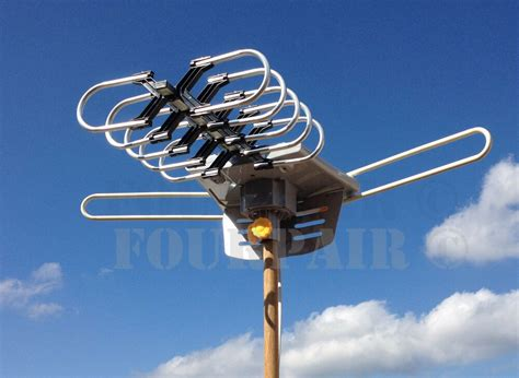 hdtv outdoor amplified antenna hd tv db rotor remote