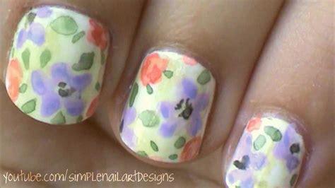 tulip flower nail art youtube watercolor flower nail art tutorial youtube