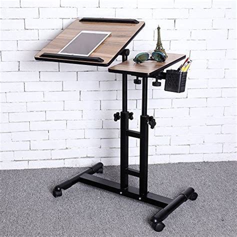 laptop table for couch chair bed and more redscorpion adjustable height rolling laptop desk table
