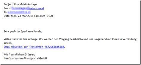 Mit Freundlichen Grüßen Mail Phishing Sparkassen Finanzportal Ihr Email Anfrage Mimikama