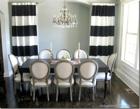 Diy Dining Room Curtains Larson Diy No Sew Black White Striped Curtains