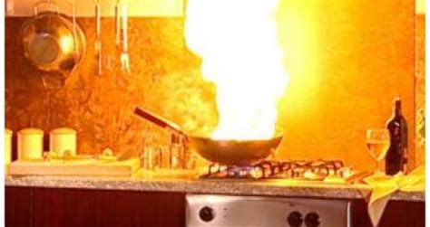 How Many Fires Start In The Kitchen by How And When To Fight A Cooking Resource Smart