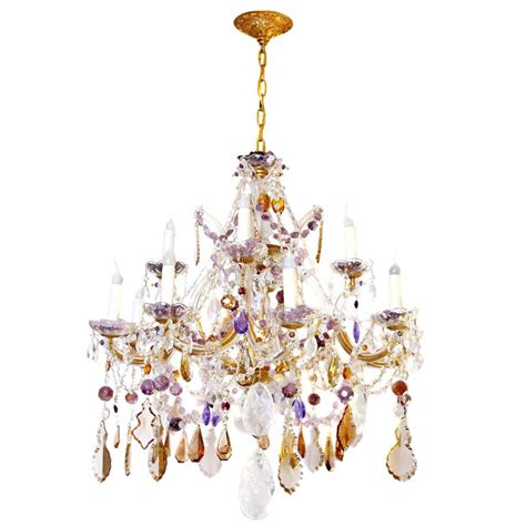 Amethyst Chandelier Amethyst And Rock Chandelier For Sale At 1stdibs
