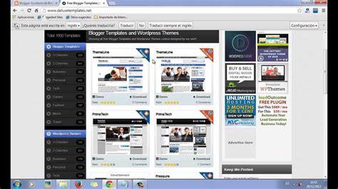 blogger youtube como descargar e instalar las mejores plantillas de