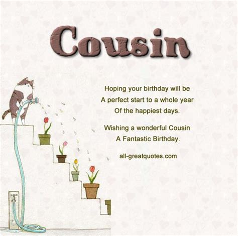 printable cousin quotes best free original birthday cards made just for your