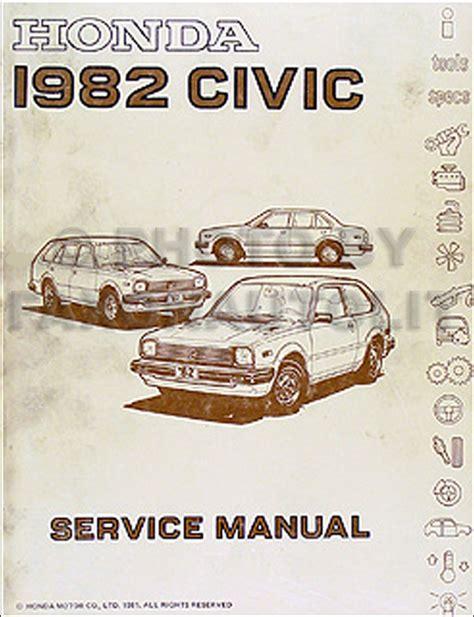 1982 honda civic repair shop manual original