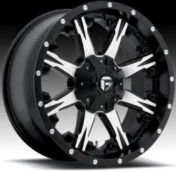 Black Machined Truck Wheels Fuel Nutz 1 Pc D541 Machined Black Truck Wheels Rims