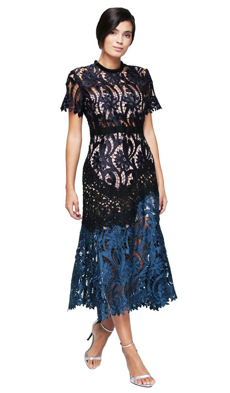 Dress Midi Flower 3 floral embroidered midi dress self portrait hire dresses