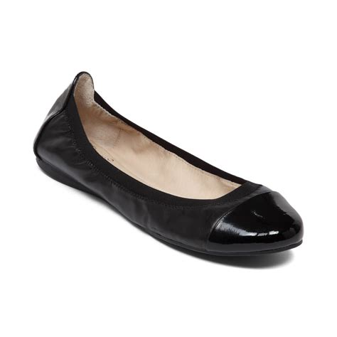 shoes flats black vince camuto elise ballet flats in black lyst