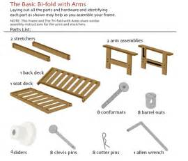 basic bi fold futon assembly