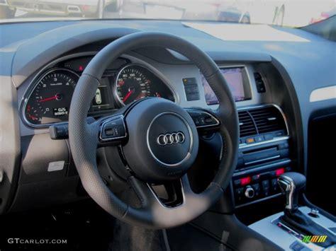 Audi Q7 Four Wheel Steering by 2013 Audi Q7 3 0 Tdi Quattro Black Steering Wheel Photo