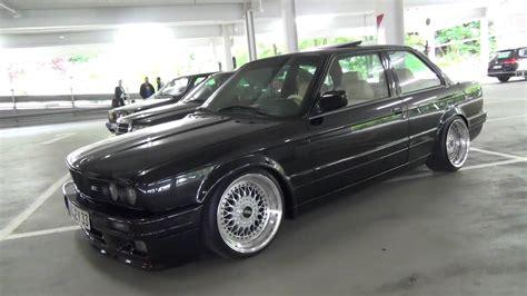 bmw e30 coupe bmw 3series e30 coupe black shadowline bbs wheels