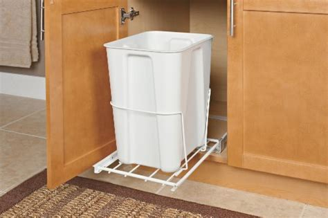 Trash From Closet by Closetmaid Pull Out Trash Bin 24 Quart White New Free
