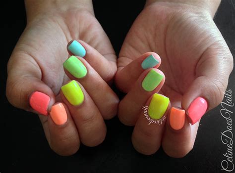 neon color nails neon colored nails pictures photos and images for