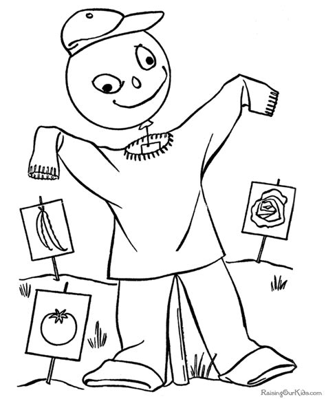 scarecrow coloring page pdf scarecrow coloring pages 8 free coloring page site