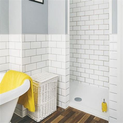 Bathroom Ideas Tiles modern shower room with metro tiles and grey walls