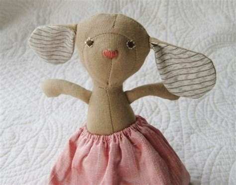 Handmade Mice - stuffed easter animals handmade organic bunny mouse