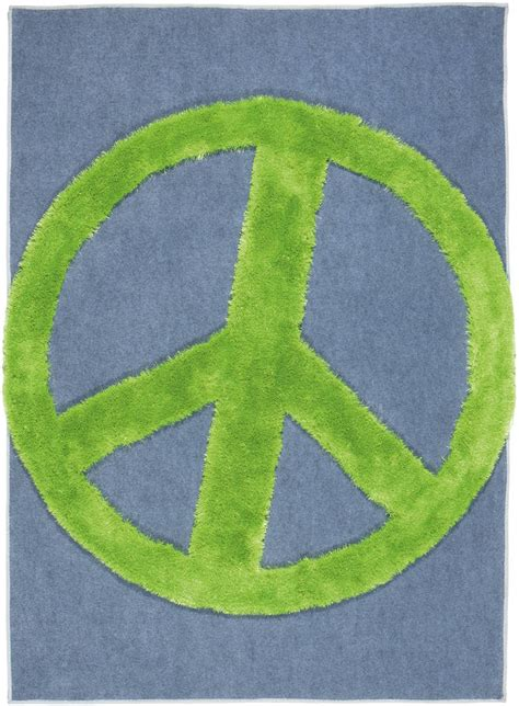 Peace Rug by Crash Peace Rug By Cotswold Mat Company Notonthehighstreet